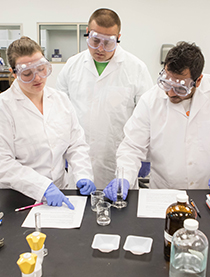 OSUIT student in a lab